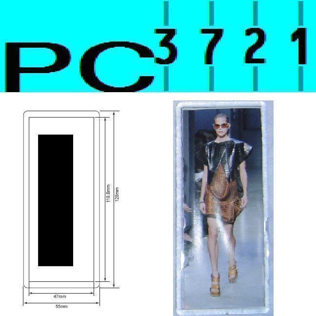 Pack Of 10 Blank Rectangular Clear Plastic Fridge Magnets