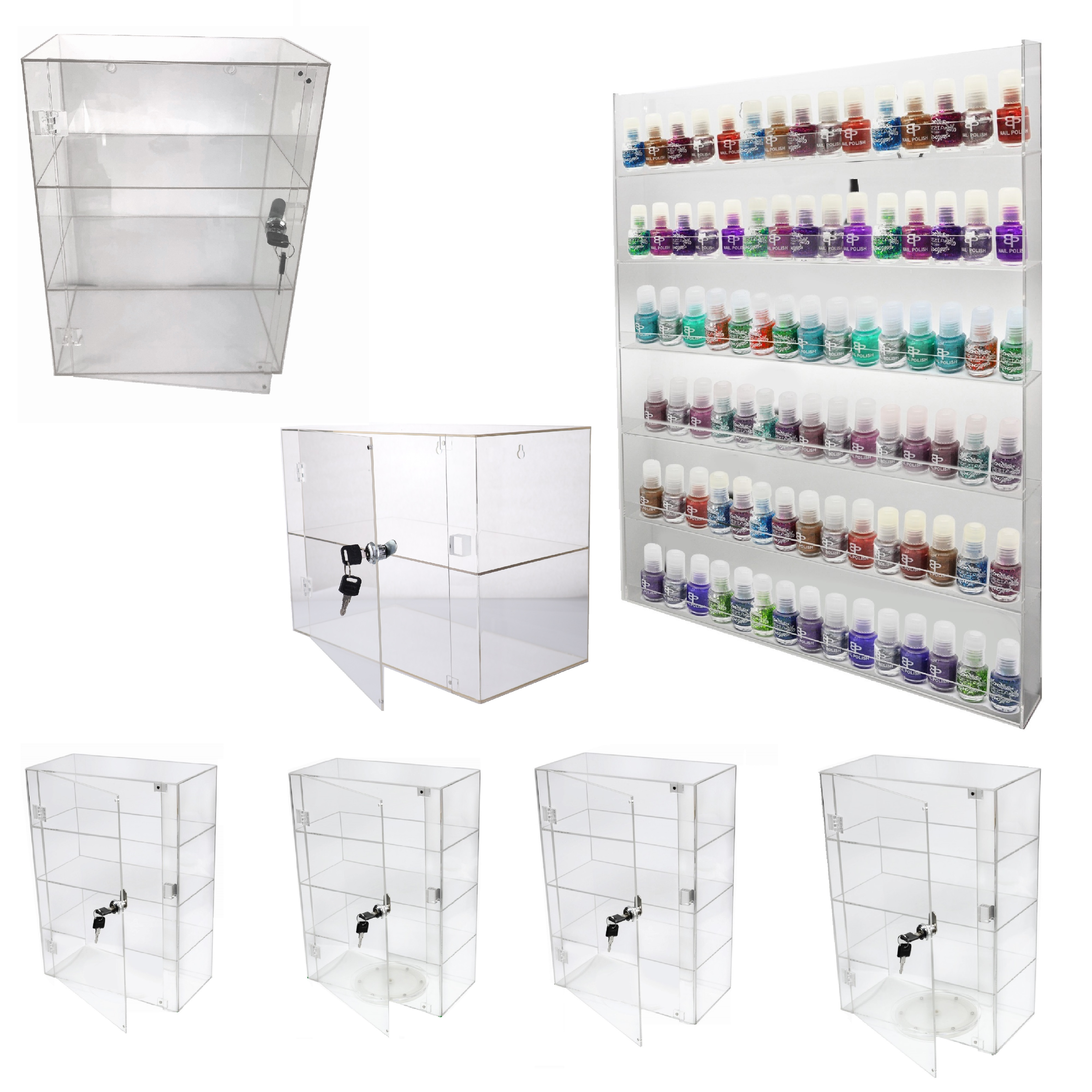 High Glossy Display cases and Racks